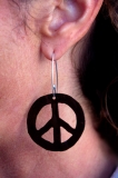 Medium peace earring.