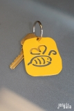 Bumble Bee Keychain in Yellow