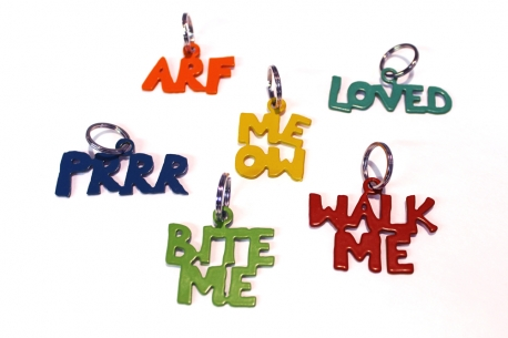 Various Selection of Jendala Word Pet Tags
