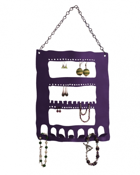 Large Jewelry Holder in Purple (powder coated)