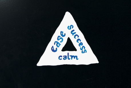 Triangle Magnet comes in white.  Dry Erase pens not included.